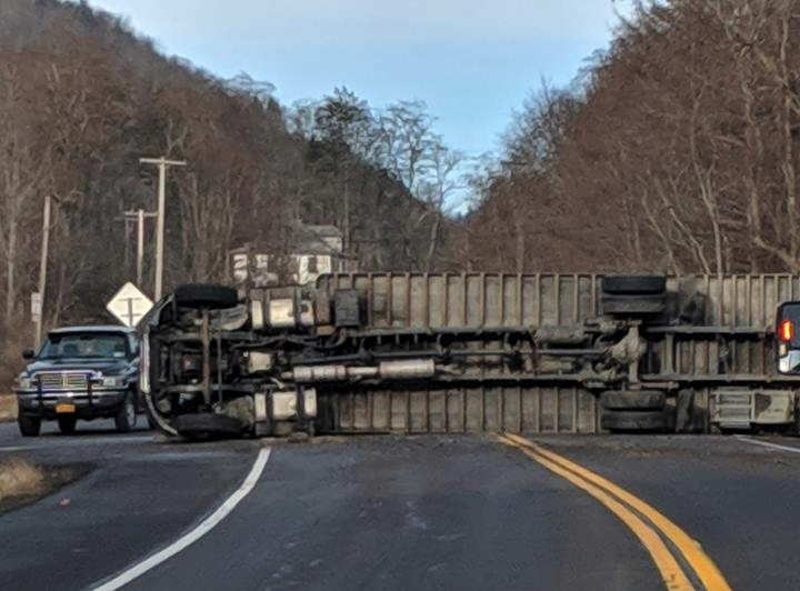 Charges pending in Route 96B rollover truck crash   14850