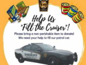 Help us Fill the Cruiser image with food items and patrol car