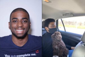 Two photos of a missing person